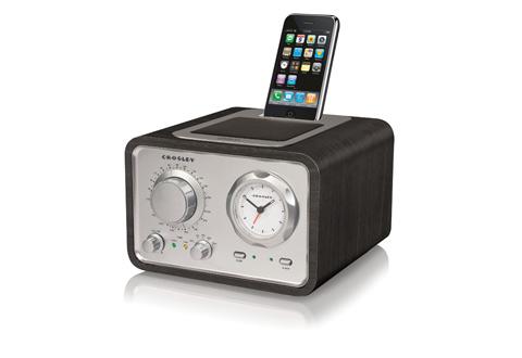 ipod classic alarm clock radio sharper image. Black Bedroom Furniture Sets. Home Design Ideas