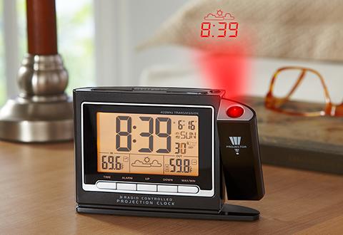 Projection Clock Sharper Image