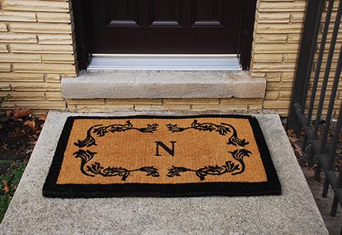 Monogrammed Outdoor Door Mat Sharper Image