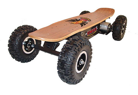 All Terrain Electric Skateboard Sharper Image