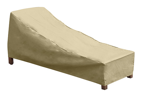 Deluxe universal outdoor chaise lounge cover sharper image for Chaise lounge covers outdoor