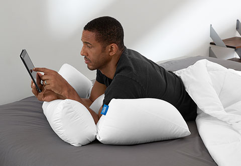 Floor Pillow To Watch Tv : 10-In-1 Flip Pillow @ Sharper Image