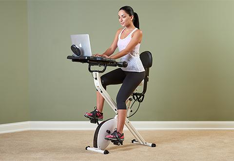 Laptop Workout Desk And Exercise Bike Sharper Image