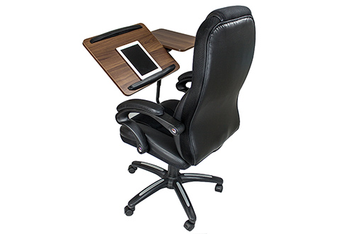 Office Chair With Integrated Laptop Desk Sharper Image