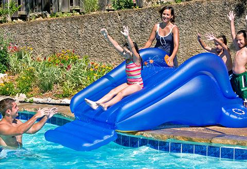 Children S Inflatable Pool Slide Sharper Image