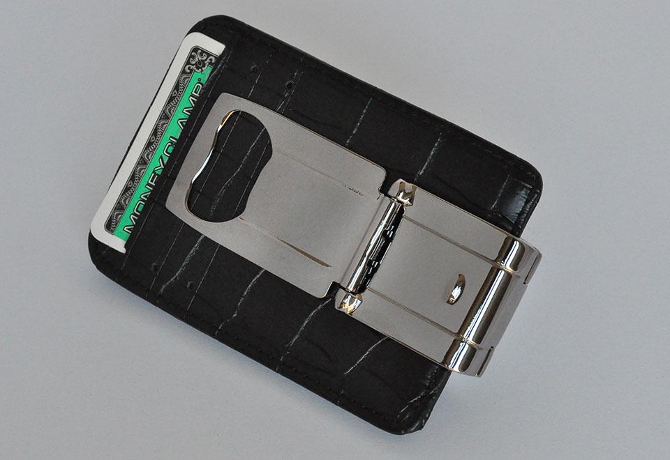 money grip clip with bottle opener brushed gunmetal ebay. Black Bedroom Furniture Sets. Home Design Ideas