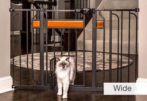 pet gates with door for cats 2