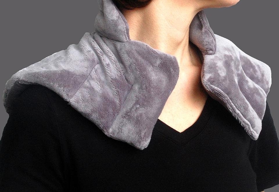 Sharper Image Neck And Shoulder Wrap Grey White Price