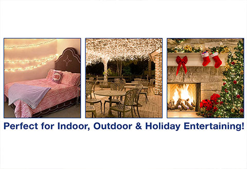 Indoor Outdoor Bluetooth Speaker Light String @ Sharper Image
