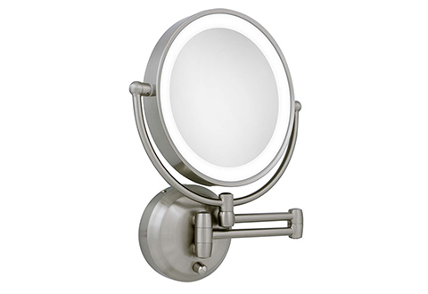 Lighted Wall Mirror: 360 Degree Lighted Wall Mirror,Lighting
