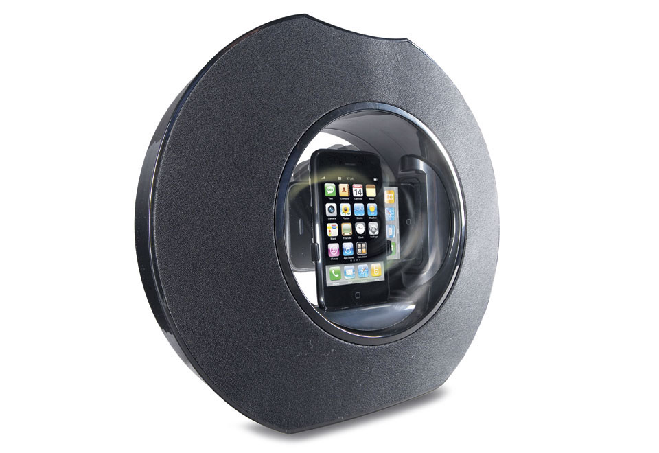 Sharper Looks Watches >> iPod/iPhone Rotating Speaker @ Sharper Image