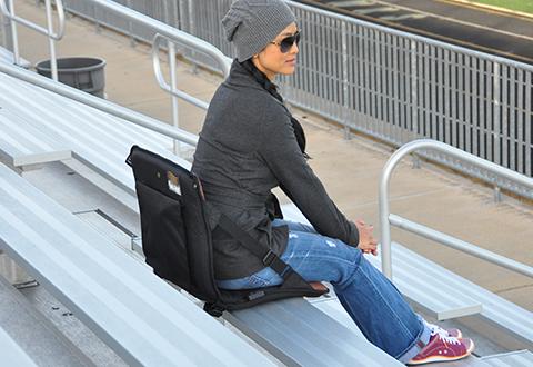 Heated Massaging Stadium Cushion Sharper Image – Chair for Bleachers