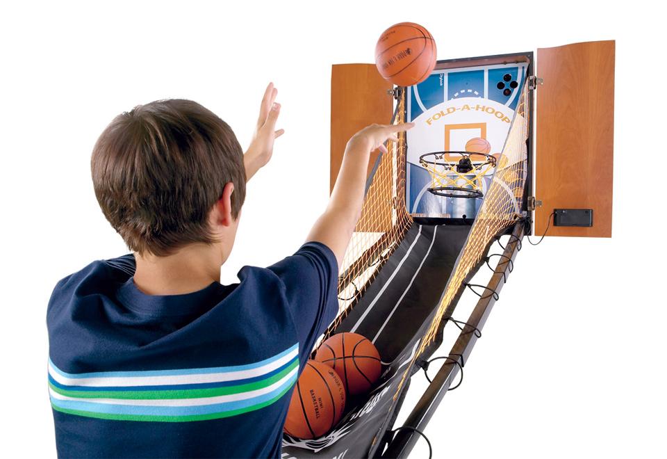 Hide-A-Hoop Indoor Arcade Basketball @ Sharper Image