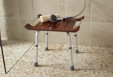 Teak Shower Seat @ Sharper Image