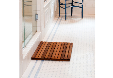 Teak Shower Mat @ Sharper Image