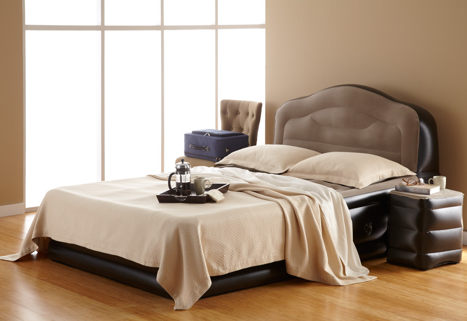 air bed with headboard  clandestin, Headboard designs