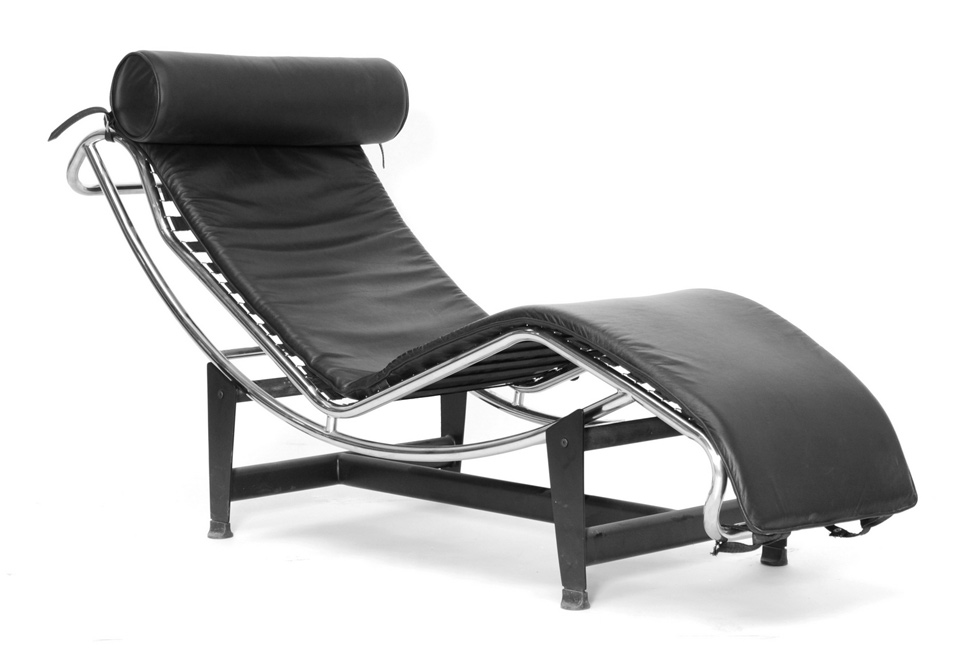 Baxton studio le corbusier chaise lounge chair sharper image for Chaise le corbusier