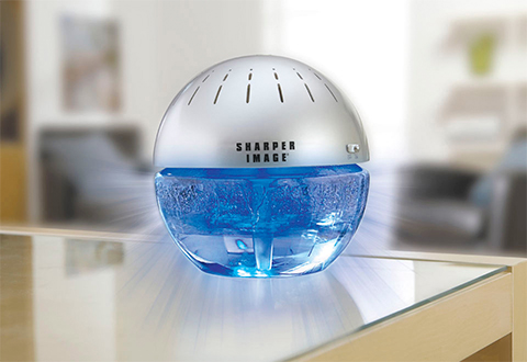 Lighted water air purifier and freshener sharper image - Living room air fresheners ...