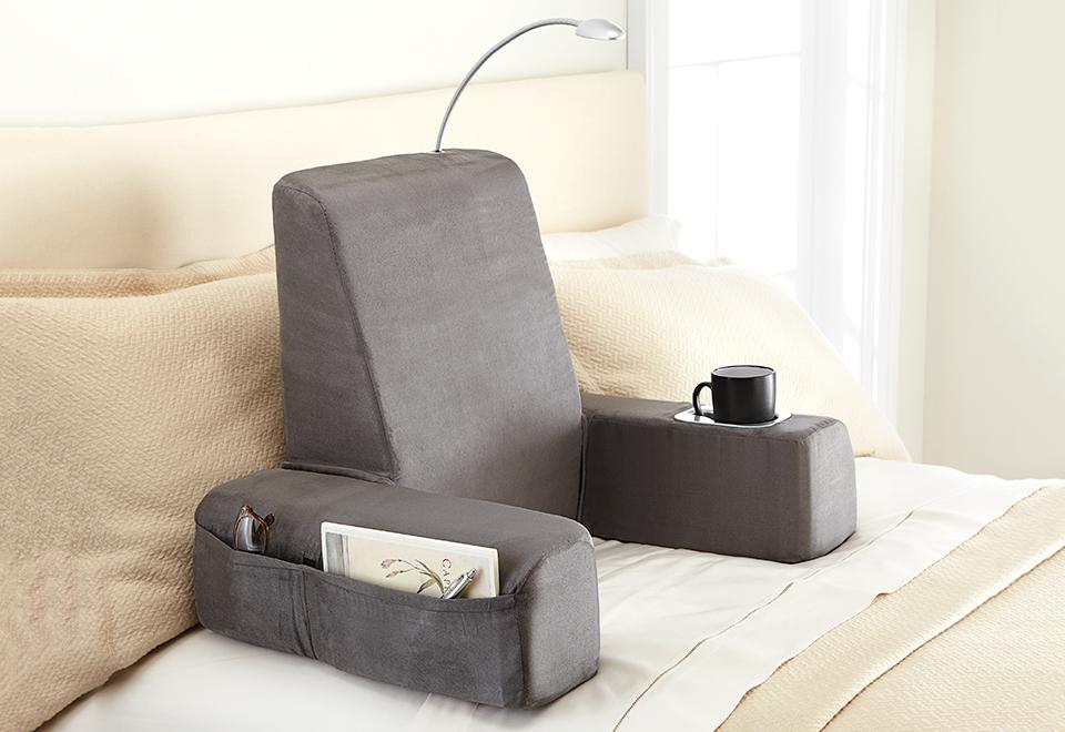 Warming backrest massager sharper image for Backrest for reading in bed
