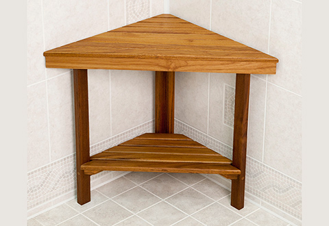 Teak Shower Bench @ Sharper Image
