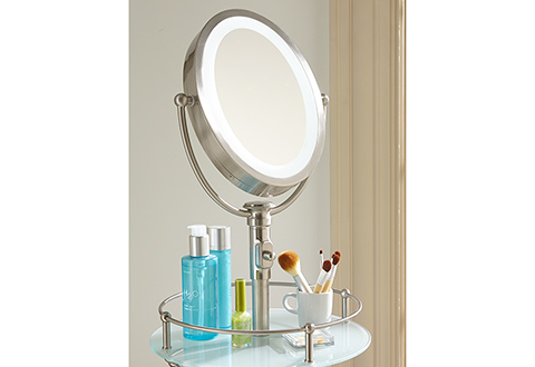Cordless Led Floor Stand Mirror Sharper Image