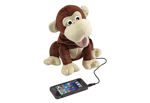 Famous Smartphone Talking Monkey @ Sharper Image JY27