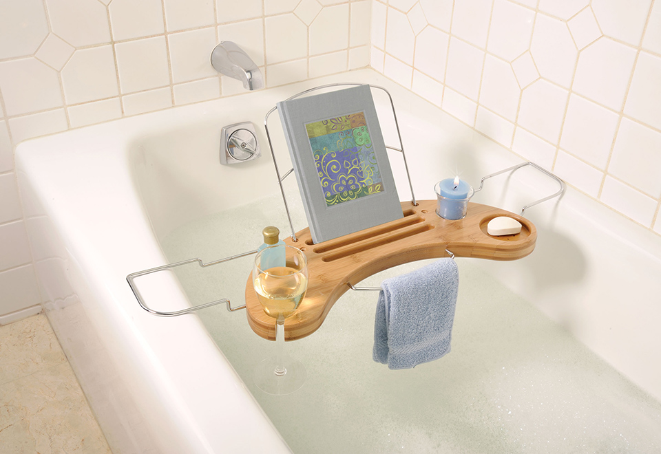 Bamboo Bathtub Caddy @ Sharper Image