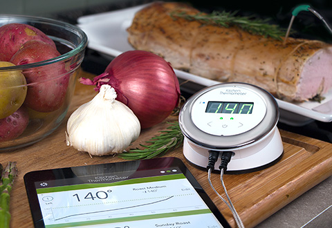 Bluetooth Kitchen Thermometer Sharper Image