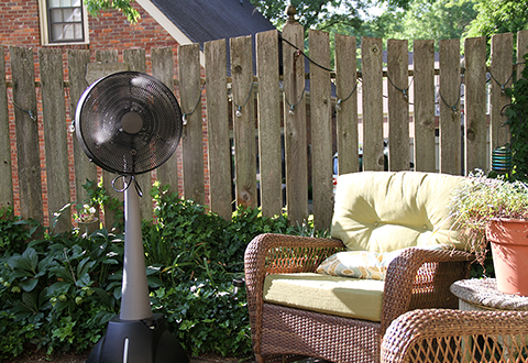 100 guaranteed - Outdoor Misting Fan