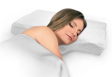 advanced anti snore pillow sharper image. Black Bedroom Furniture Sets. Home Design Ideas