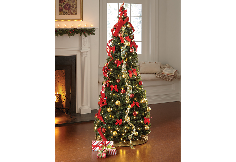 pop up 6 ft led christmas tree sharper image - Pop Up Christmas Tree With Lights