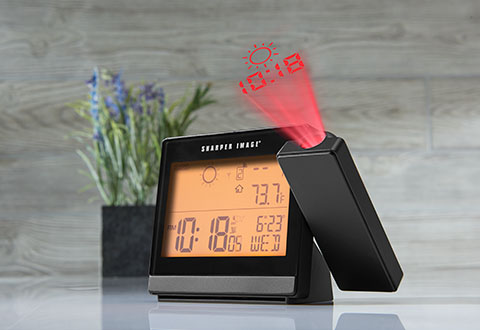 Weather Projection Clock. Clocks   Radios   Sharper Image