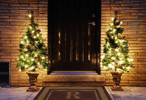 Pre-lit Entryway Tree @ Sharper Image