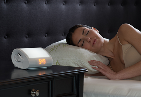 wake up light alarm clock radio with soothing sounds. Black Bedroom Furniture Sets. Home Design Ideas