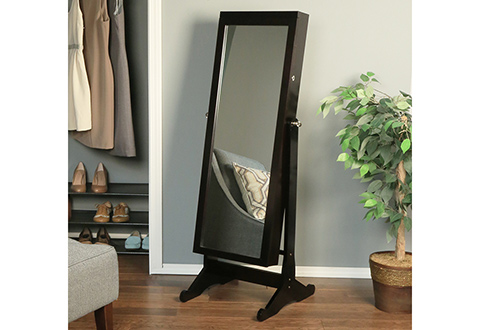 Jewelry Armoire With FullLength Mirror Sharper Image