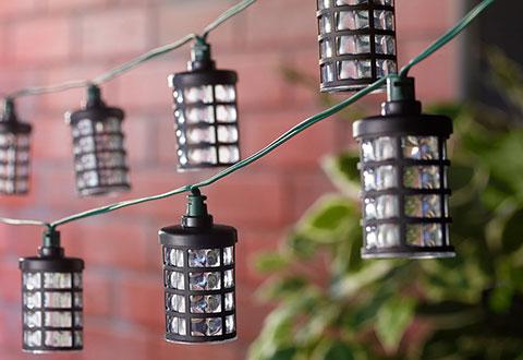 Solar Powered String Lights @ Sharper Image