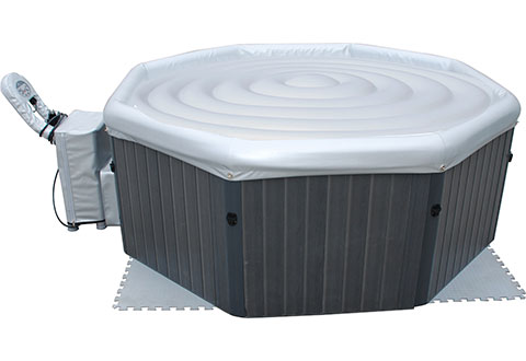 Deluxe Inflatable 6 Person Hot Tub Sharper Image