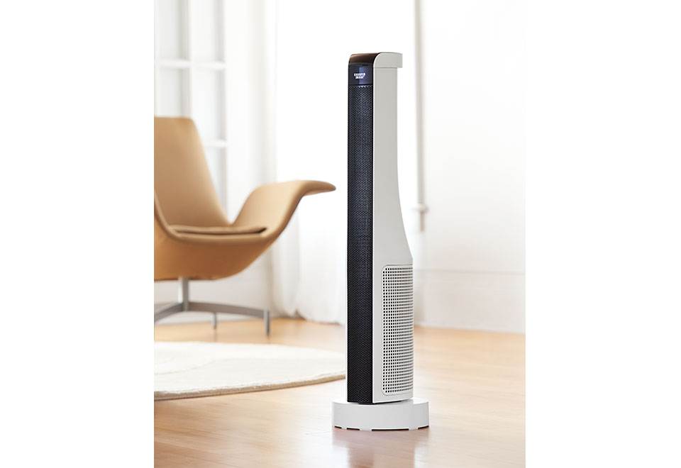 30 Ceramic Tower Heater Fan With Remote Control Sharper