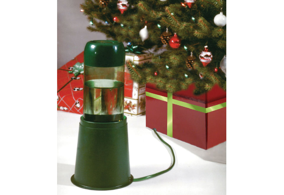 Self-Watering Device For LED Train Station Christmas Tree