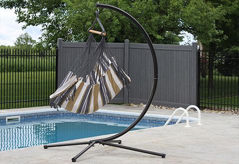 100  satisfaction guaranteed brazilian hammock chair with stand   sharper image  rh   sharperimage