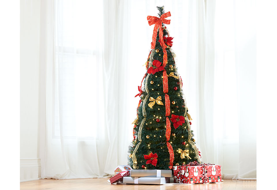 6ft pre lit pop up decorated led christmas tree pop up 6ft led christmas tree sharper image - Pop Up Pre Lit And Decorated Led Christmas Tree