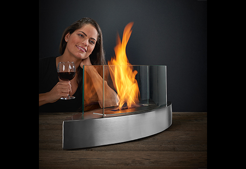 Dress up any table with our sophisticated Tabletop Fireplace. It gives any room a warm and cozy ambiance.